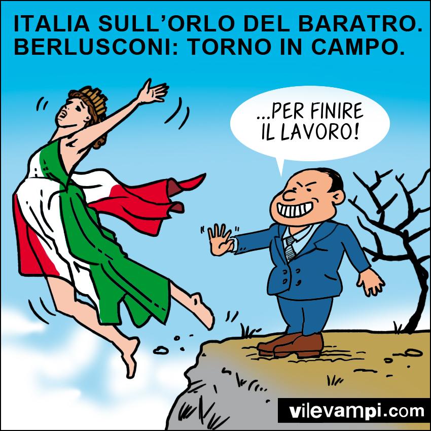 Italia sull'orlo del baratro...